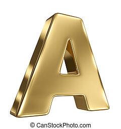 solide, lettre alphabet, or