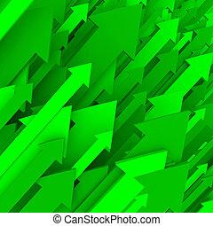 solide, vert, -, flèche, fond