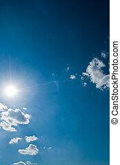 solig, sky, bakgrund
