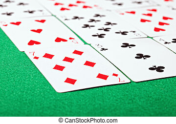 Solitaire closeup - Solitaire tabletop card gaming for...