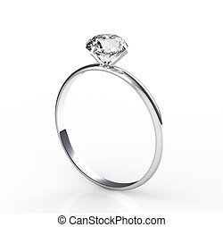 solitaire diamond - diamond solitaire ring on a white...