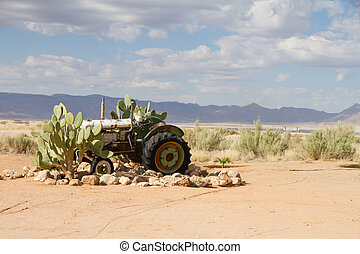 Solitaire, Namibia - Abandoned agrimotor near a service...