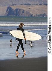 solitaire, surfeur