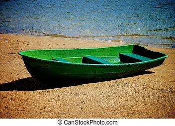 solitaire, vieux, bateau