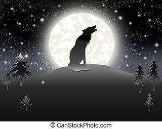 solitario, lobo
