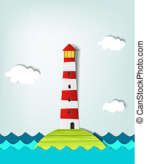 Solitary Island lighthouse