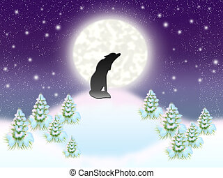 Solitary wolf