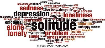 Solitude word cloud concept