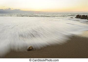solnedgång,  ocean
