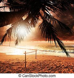 solnedgång, Paradis