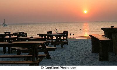 solnedgång strand, hinder