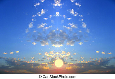 solnedgånger, fiktion