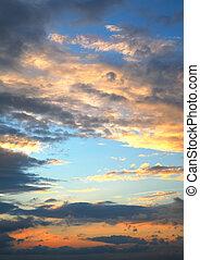 solnedgångsky