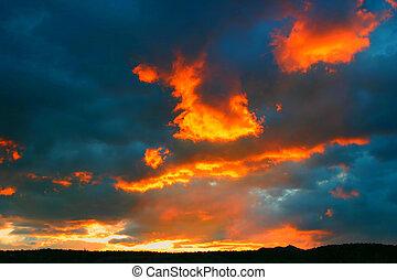 solnedgang, 4713