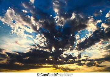 solnedgang, baggrund