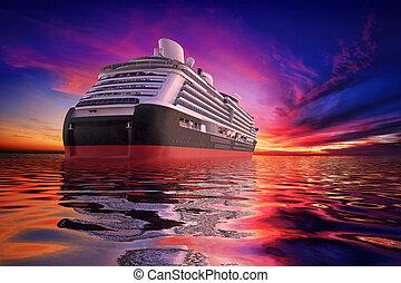 solnedgang, cruise