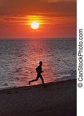 solnedgang, løber