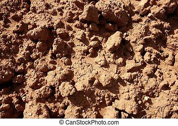 solo, argila, agricultura, vermelho, textured