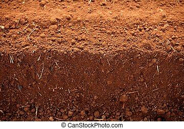 solo, argila, lavrou campos, agricultura, vermelho