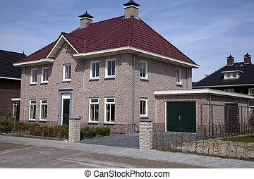 solo, casa, stare in piedi, nuovo, olandese