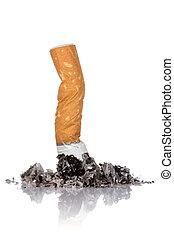 solo, ceniza, butt, cigarrillo