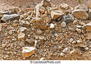 solo, pedra