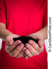 solo, segurando mão