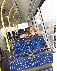 solo, su, il, autobus