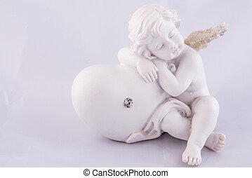 solo, valentina, angelo, in pausa, su, cuore