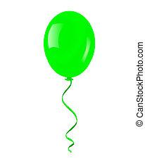 solo, verde, balloon.