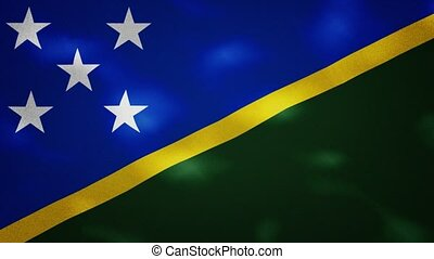 Solomon Islands dense flag fabric wavers, perfect loop for background