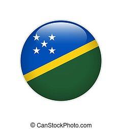 Solomon Islands flag on button
