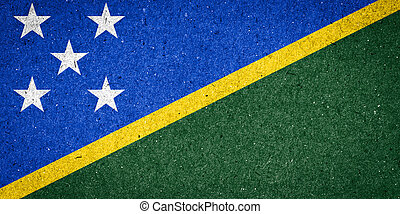 Solomon Islands flag on paper background