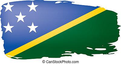 Solomon Islands flag, vector illustration on a white...