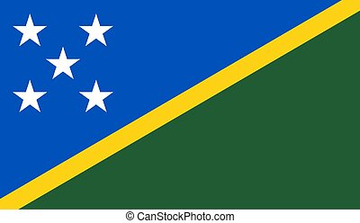 Solomon Islands Flag  - Vector Illustration