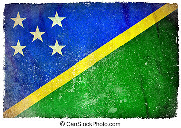Solomon Islands grunge flag