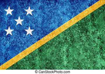 Solomon Islands Metallic flag, Textured flag