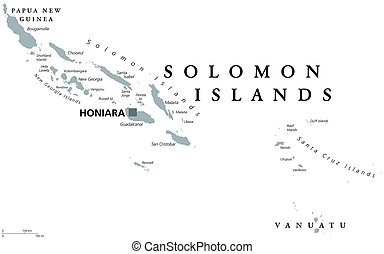Solomon Islands political map