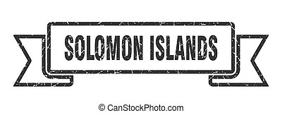 Solomon Islands ribbon. Black Solomon Islands grunge band ...
