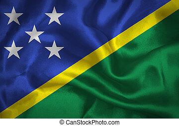 Solomon islands waving flag