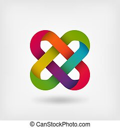 solomon knot in rainbow colors. vector illustration - eps 10