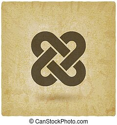 Solomon Knot vintage background. vector illustration - eps...