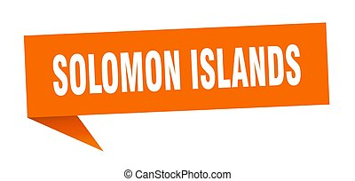 solomon, signpost, sticker., isole, segno, arancia, ...