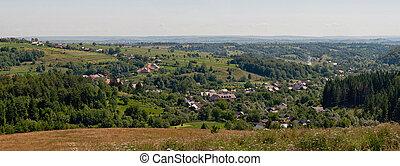 Solonetul Nou - Panorama of Solonetu Nou village in...