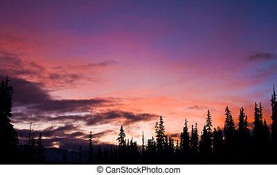 solopgang, bjergene