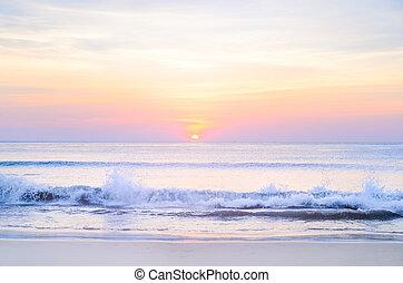 solopgang, hav