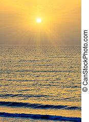 solopgang, hen, atlantiskt ocean