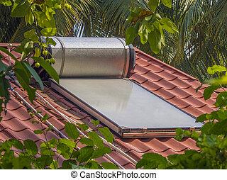 Solor roof water heater