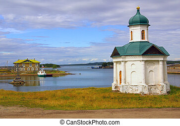 Solovetsky Monastery, Karelia, Russia in summer day