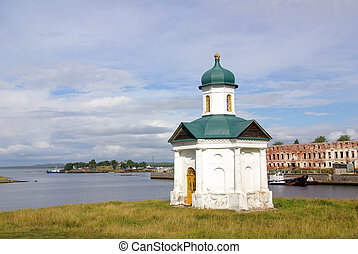 SOLOVKI, REPUBLIC OF KARELIA, RUSSIA - August, 2011: Chapel on Solovki in summer day